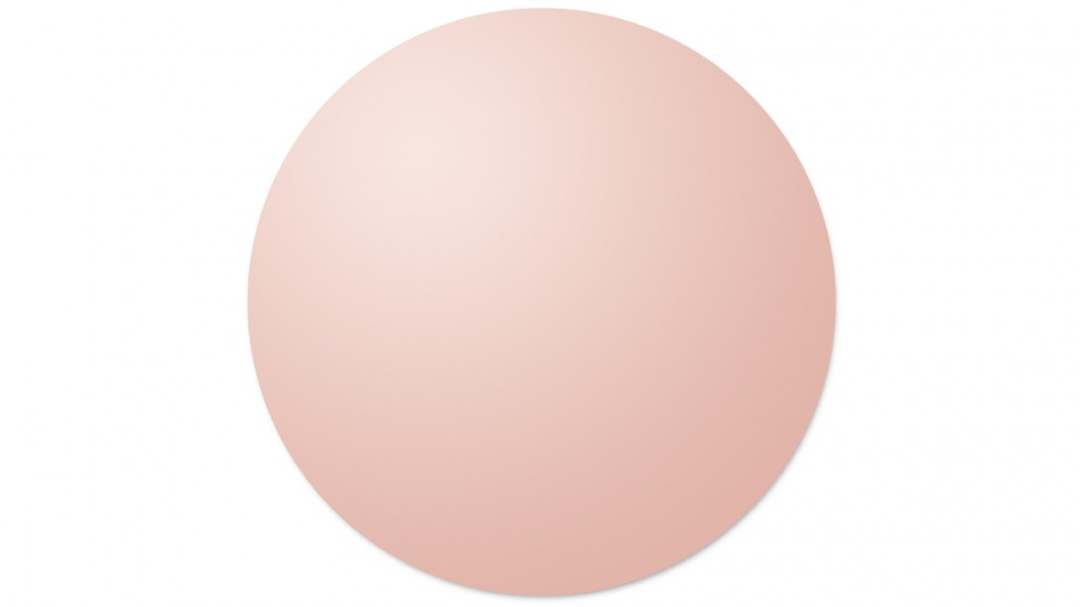 Cooper & Co. Issy Urban Round Frameless Wall Mirror 70cm - Rose Gold