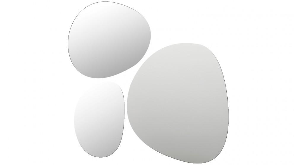 Cooper & Co. Set of 3 Frameless Pebble Mirror Tiles