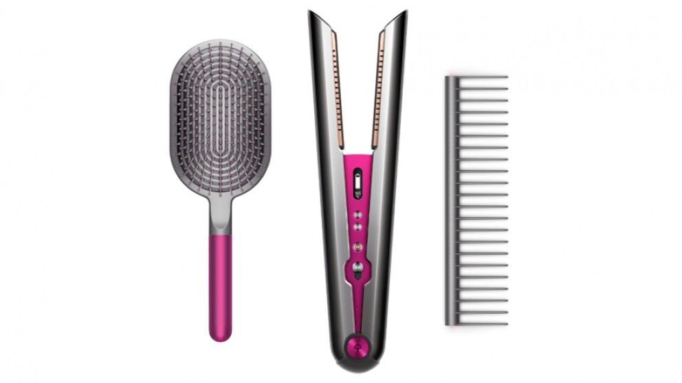 Dyson Corrale Hair Straightener (Black Nickel/Fuchsia) Gift Edition with Styling Set