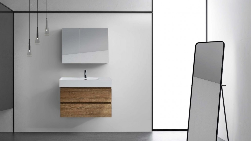 Parisi EVO 800mm Mirror Cabinet - Moka