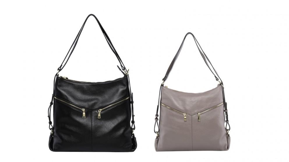 Serenade Kaylee Convertible Leather Bag/Backpack