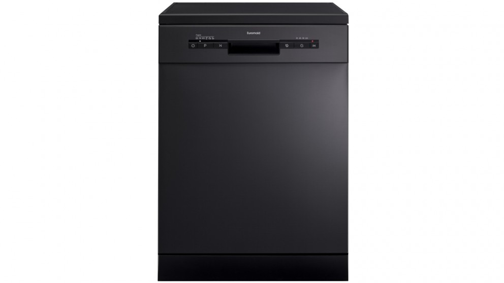 Euromaid Eclipse 60cm 14 Place Setting Freestanding Dishwasher - Black Stainless Steel