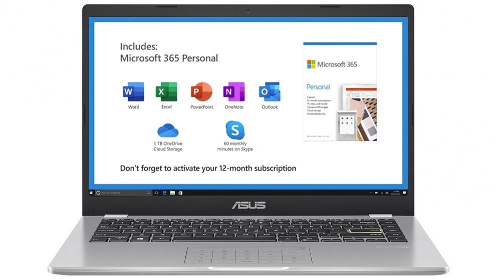 Asus 14-inch Celeron-N4020/4GB/64GB eMMC Laptop - Dreamy White