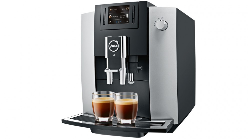 buy jura e6 platinum auto coffee machine harvey norman au. Black Bedroom Furniture Sets. Home Design Ideas
