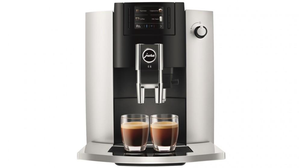 Jura E6 Automatic Coffee Machine - Platinum