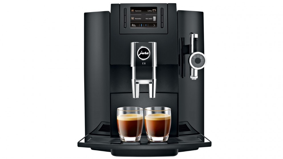 Jura E8 Automatic Coffee Machine - Piano Black