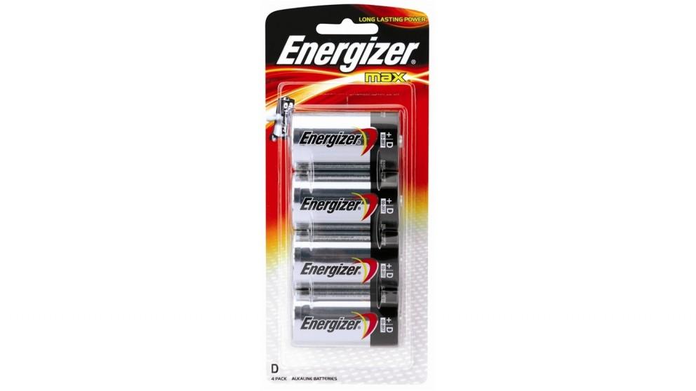 Energizer  4 Pack Max D Alkaline Battery