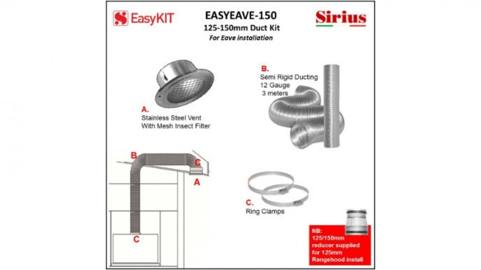 Sirius 150mm Eave Ducting Kit