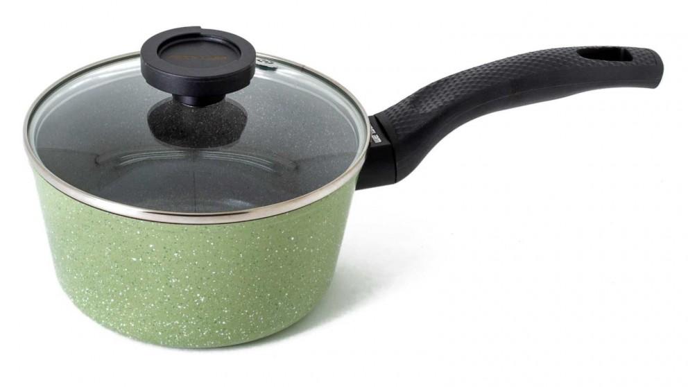 Neoflam Luke Hines 18cm Marble 1.9L Sauce Pan - Green