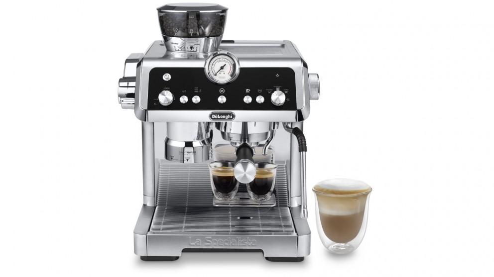 DeLonghi La Specialista Prestigio Manual Coffee Machine - Silver