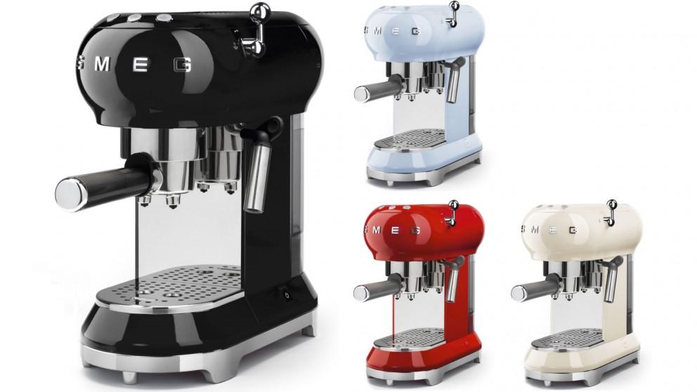 Buy Smeg 50\'s Retro Style Espresso Coffee Machine | Harvey Norman AU