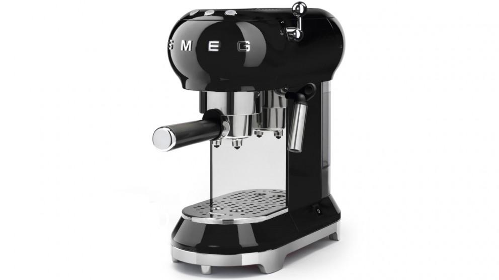 Smeg 50's Retro Style Espresso Coffee Machine - Black