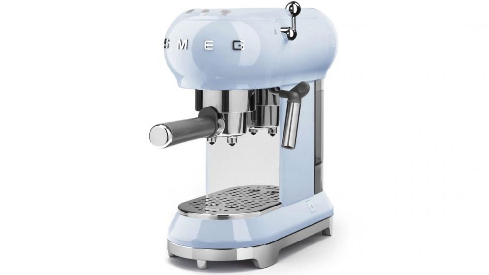 Smeg 50's Retro Style Espresso Coffee Machine - Pale Blue