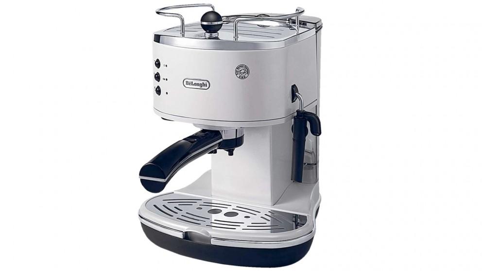 DeLonghi ECO310 Icona Pump Espresso Coffee Machine - White