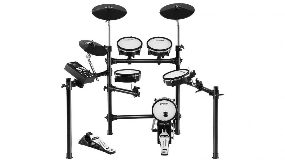 8 Piece Electronic Drum Kit Set Mesh