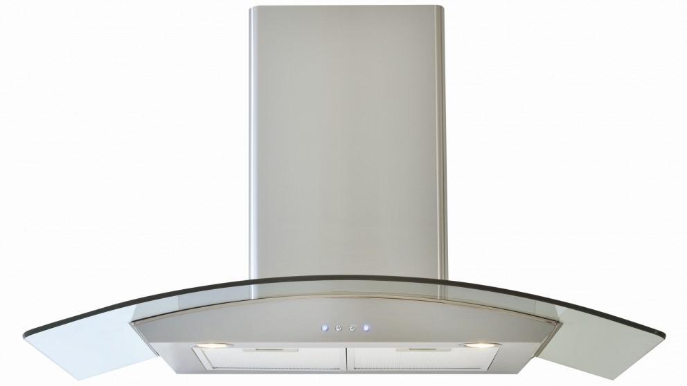Euromaid 900mm Basic Curved Glass Canopy Rangehood
