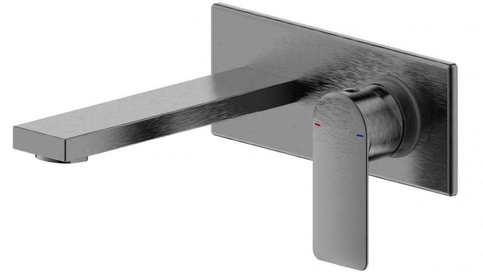 Bravat Elle Wall Basin/Bath Mixer - Gunmetal