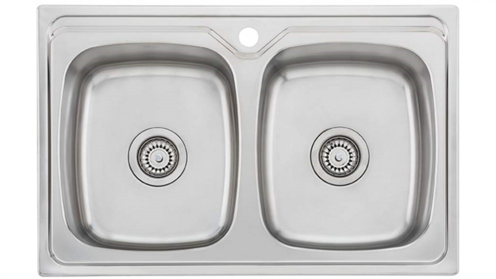 Oliveri Endeavour Double Bowl Universal Sink with 1 Tap Hole