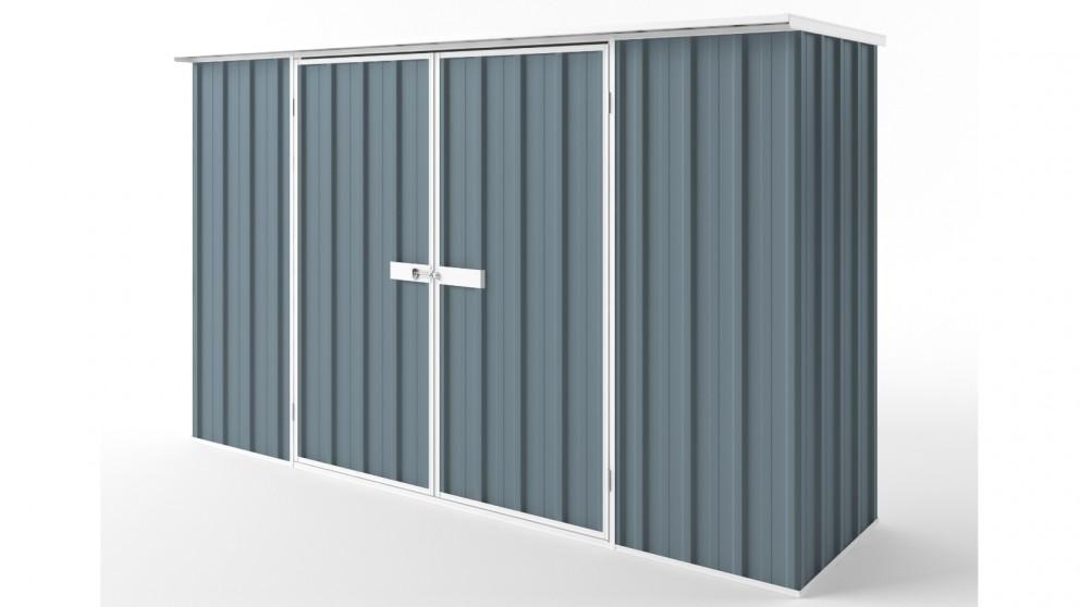 EasyShed D3008 Flat Roof Garden Shed - Blue Horizon