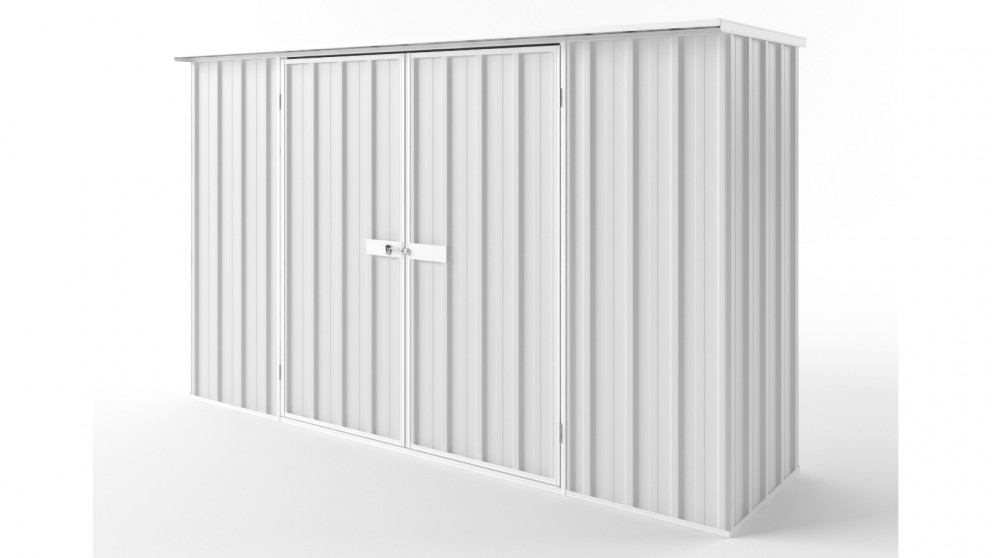 EasyShed D3008 Flat Roof Garden Shed - Off White