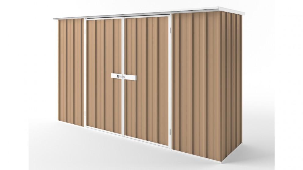 EasyShed D3008 Flat Roof Garden Shed - Pale Terracotta