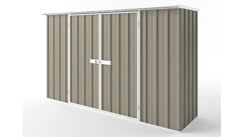 EasyShed D3008 Flat Roof Garden Shed - Stone