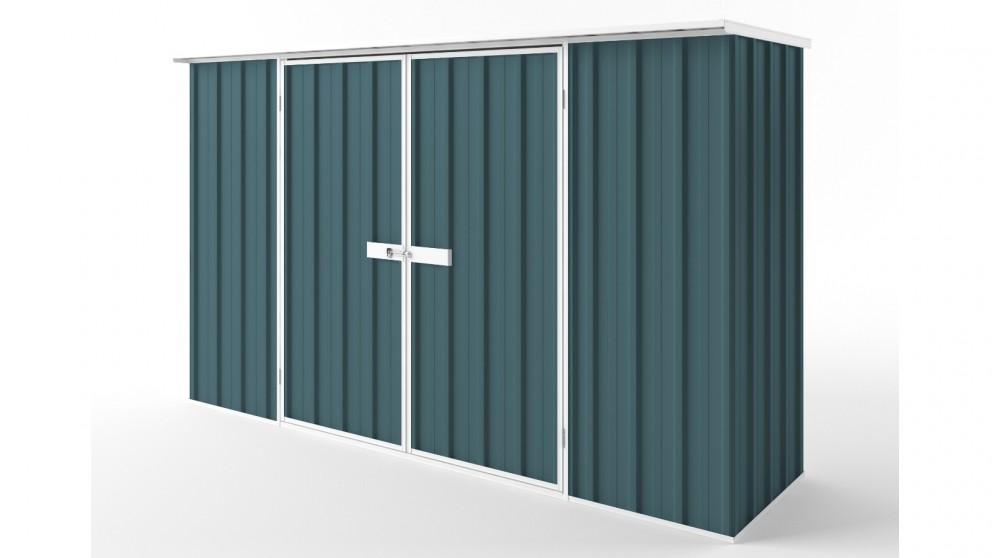 EasyShed D3008 Flat Roof Garden Shed - Torres Blue