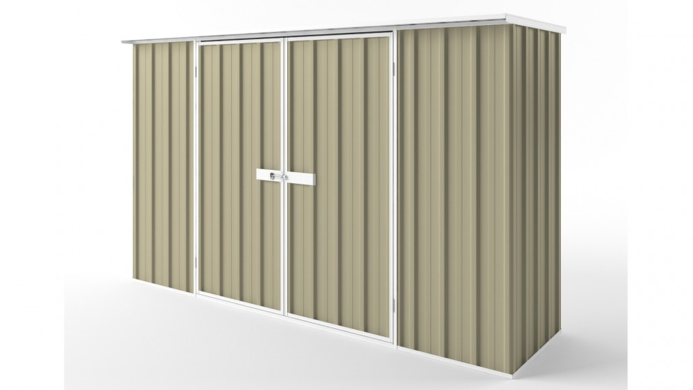 EasyShed D3008 Flat Roof Garden Shed - Wheat