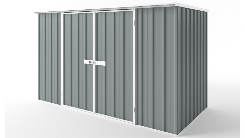 EasyShed D3015 Flat Roof Garden Shed - Armour Grey