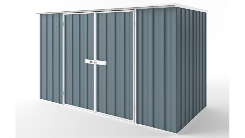 EasyShed D3015 Flat Roof Garden Shed - Blue Horizon