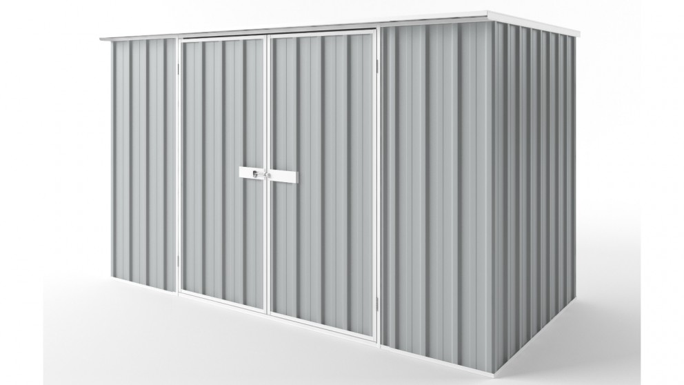 EasyShed D3015 Flat Roof Garden Shed - Gull Grey