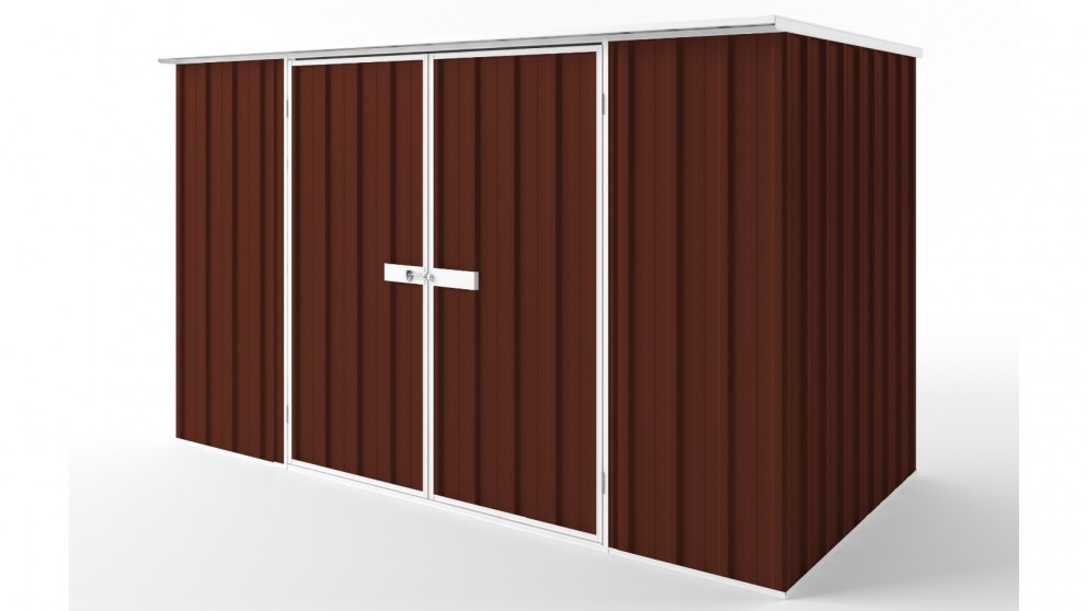 EasyShed D3015 Flat Roof Garden Shed - Heritage Red