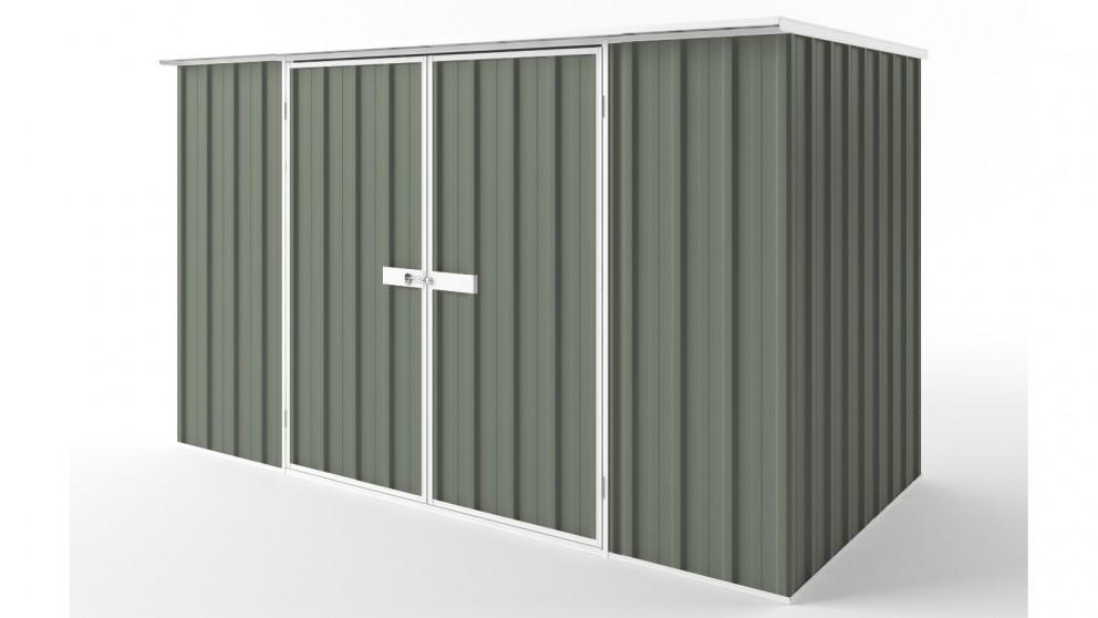 EasyShed D3015 Flat Roof Garden Shed - Mist Green