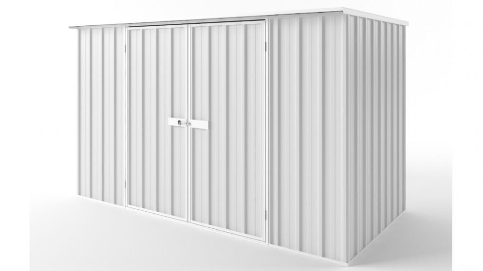 EasyShed D3015 Flat Roof Garden Shed - Off White