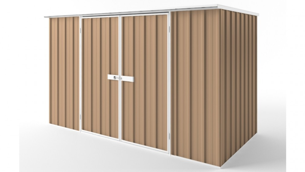 EasyShed D3015 Flat Roof Garden Shed - Pale Terracotta