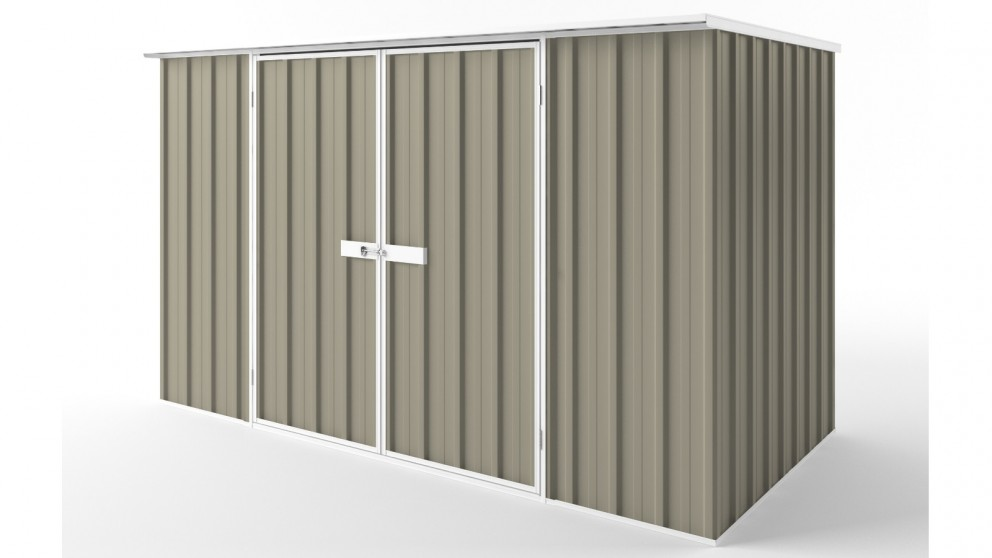EasyShed D3015 Flat Roof Garden Shed - Stone