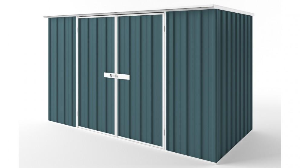 EasyShed D3015 Flat Roof Garden Shed - Torres Blue