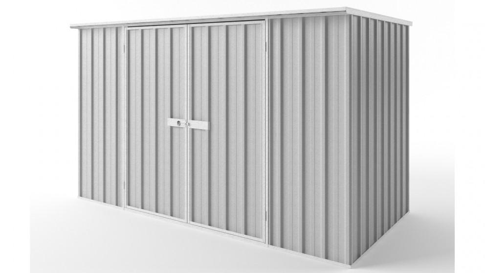 EasyShed D3015 Flat Roof Garden Shed - Zincalume