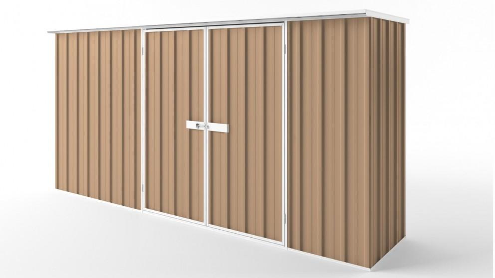 EasyShed D3808 Flat Roof Garden Shed - Pale Terracotta