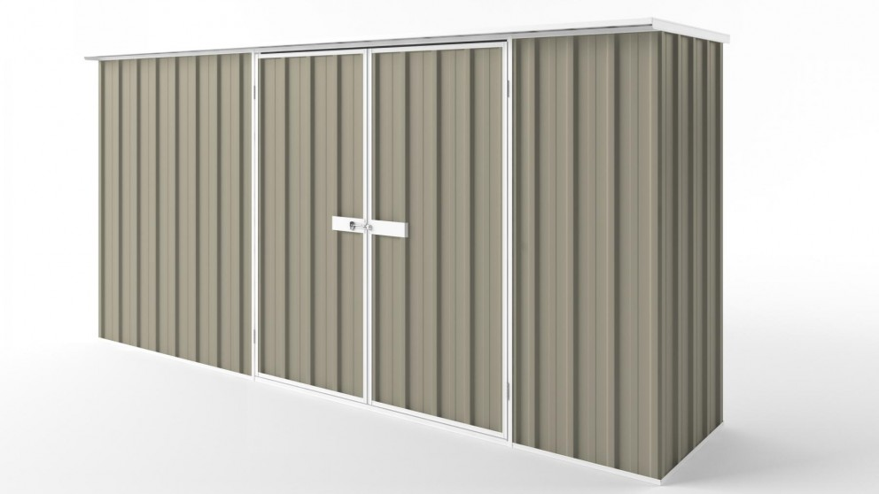 EasyShed D3808 Flat Roof Garden Shed - Stone