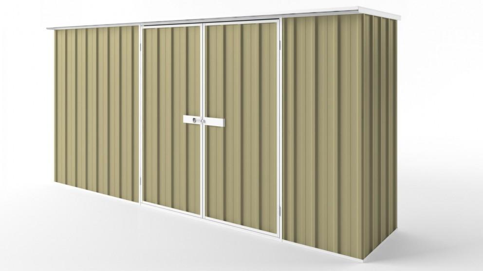 EasyShed D3808 Flat Roof Garden Shed - Sandalwood