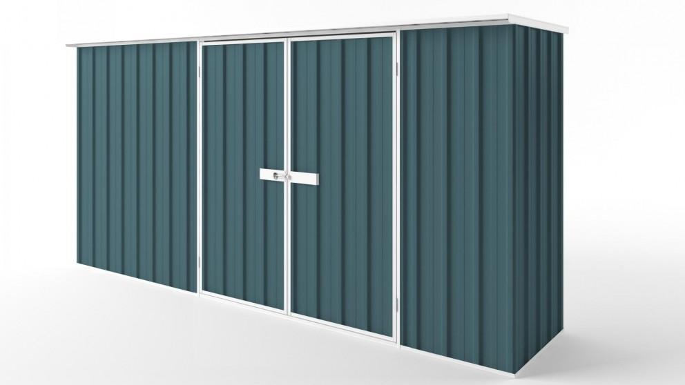 EasyShed D3808 Flat Roof Garden Shed - Torres Blue