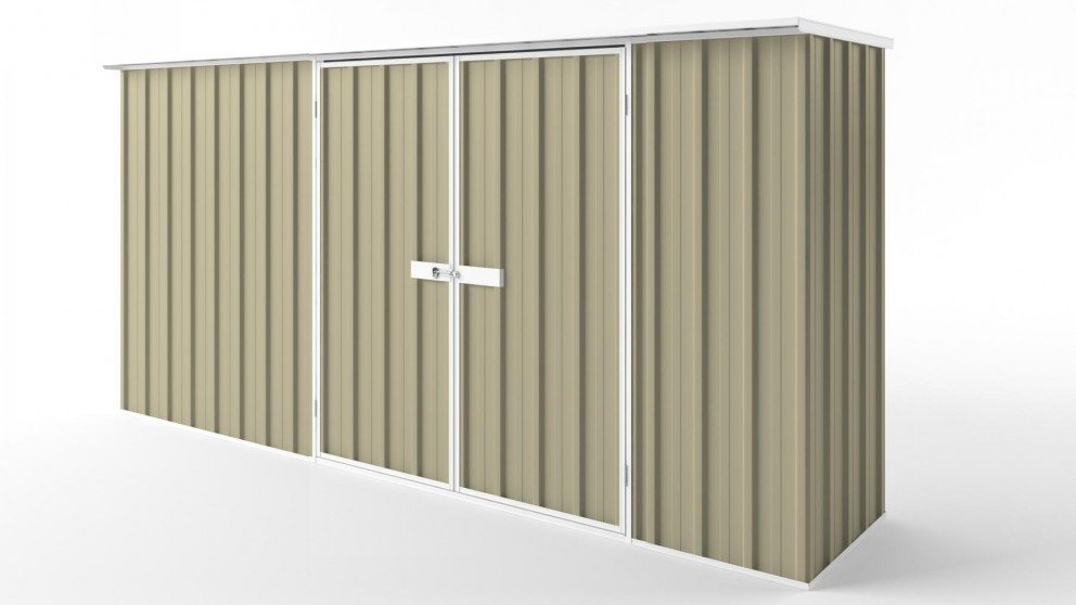 EasyShed D3808 Flat Roof Garden Shed - Wheat