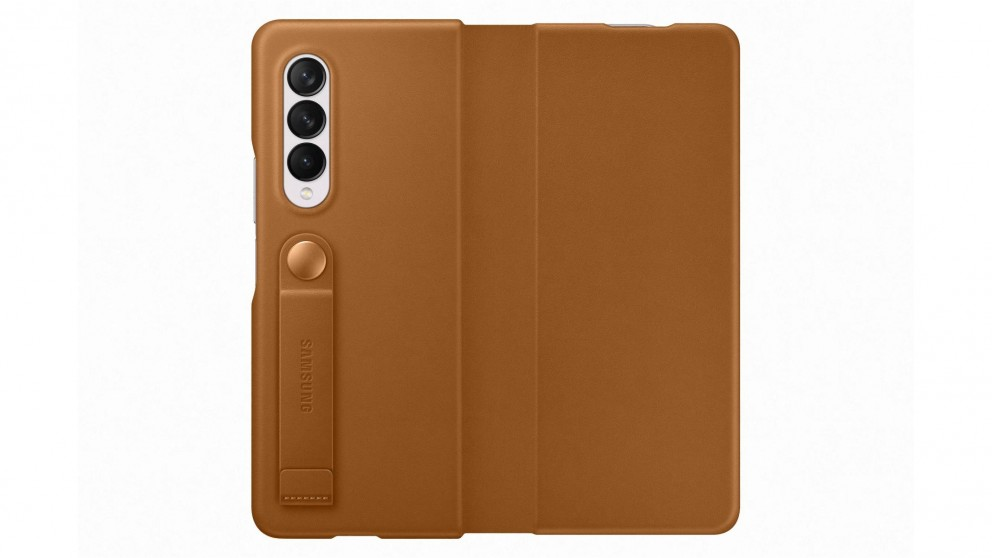 Samsung Galaxy Z Fold3 5G Leather Flip Cover - Camel