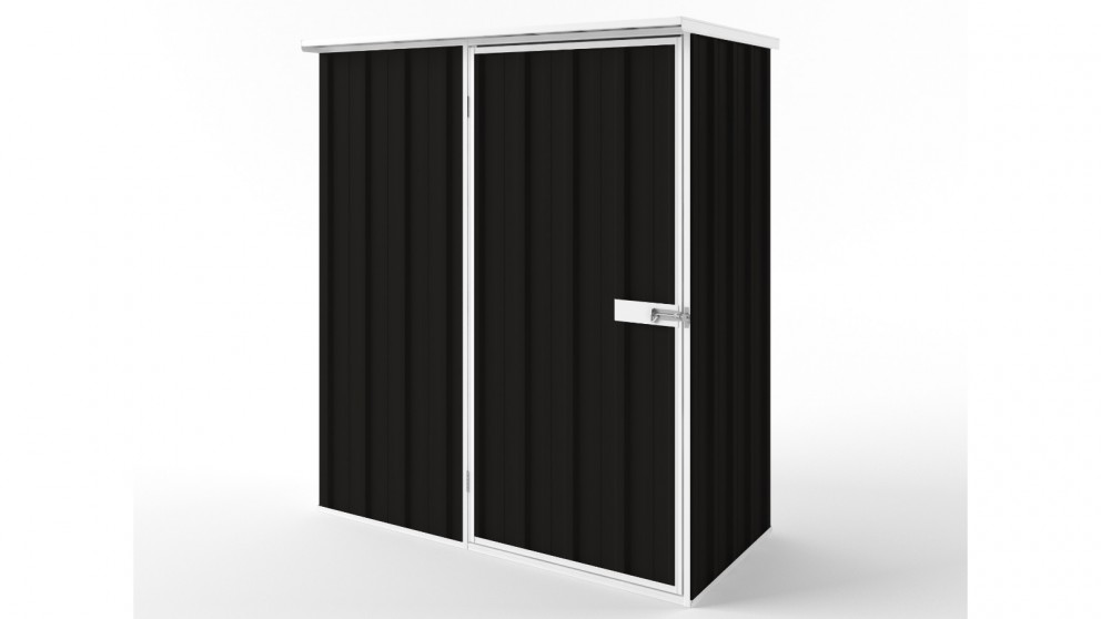 EasyShed S1508 Flat Roof Garden Shed - Ebony