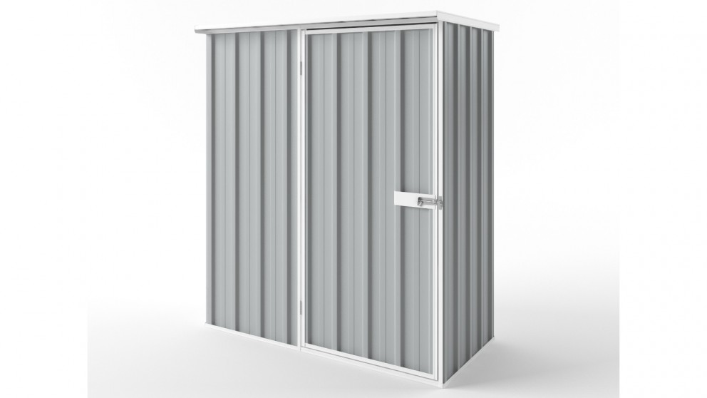 EasyShed S1508 Flat Roof Garden Shed - Gull Grey