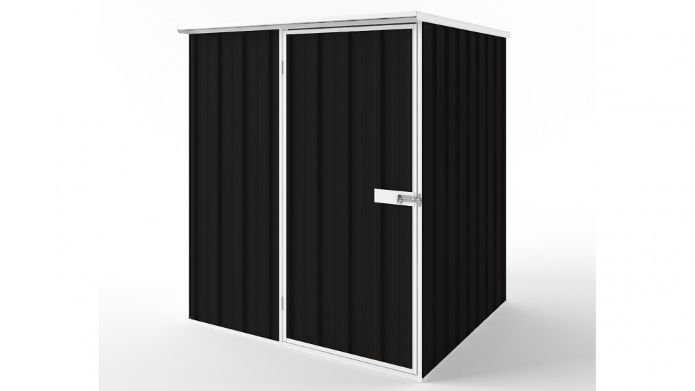 EasyShed S1515 Flat Roof Garden Shed - Ebony