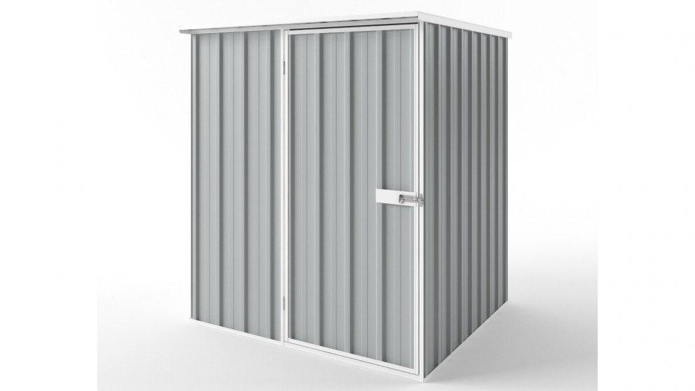EasyShed S1515 Flat Roof Garden Shed - Gull Grey