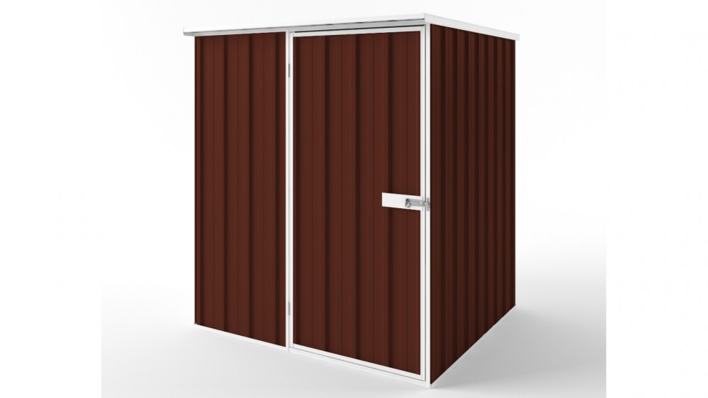 EasyShed S1515 Flat Roof Garden Shed - Heritage Red