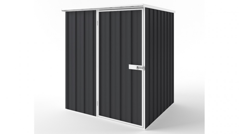 EasyShed S1515 Flat Roof Garden Shed - Iron Grey